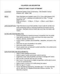 sample flight attendant job description 6 examples in word pdf