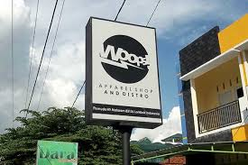 desain gambar neon box neon box apperel shop and distro amora advertising