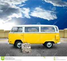volkswagen yellow car vehicle retro vintage yellow van stock photo image of luggage vehicle 7897860