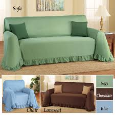 Furniture Throw Covers For Sofa by Ruffled Furniture Throw Cover From Collections Etc