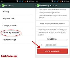 android remove account how to delete whatsapp account in android