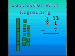 subtraction with regrouping tutorial youtube
