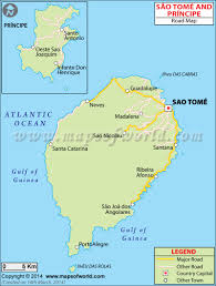 map of sao tome tome and principe road map