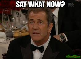 Say What Meme - say what now meme confused mel gibson 3397 memeshappen
