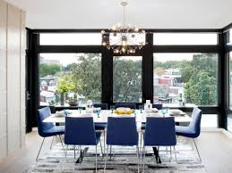 Contemporary Upholstered Dining Room Chairs Modern Condo With A Big City Feel Amy Elbaum Hgtv
