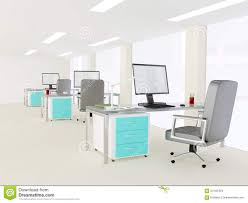 interior of a bright modern minimalist office stock photo image
