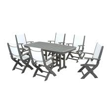 White Patio Dining Set - polywood metal patio furniture patio dining furniture patio