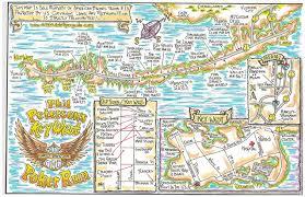 Key West Florida Map by 2003 Key West Poker Run Map Bikers Atlas Maps