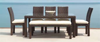Patio Dining Furniture Patio Dining Sets Crafted Of Aluminum Cast Aluminum Wicker Teak