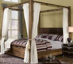 bedroom with wooden canopy bed featured white curtains beautiful bedroom with wooden canopy bed featured white curtains beautiful bedroom canopy bed frame