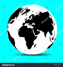 World Continents And Oceans Map by Globe Map Earth Continent Ocean Planet Stock Vector 318829496