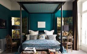 bedroom pure blue and brown bedroom ideas with canopy design