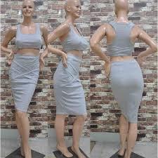 women u0027s 2 piece set summer club midi bandage bodycon party dress