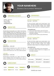 modern resume template word 2007 hongdae modern resume template
