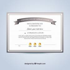 sample text for certificate of appreciation certificate of appreciation template vector free download