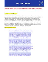 toyota corolla 2004 service repair manual wiring diagram wiring