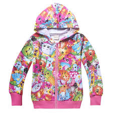 kids girls shopkins clothing top hoodie thin jacket tracksuit