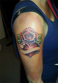 heart and rose tattoo by tatosxl on deviantart