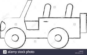 jeep front drawing 4x4 stock vector images alamy