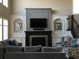 gray great room fireplace wall paint colors sherwin williams