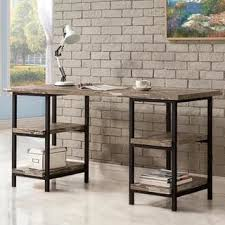 renate reclaimed wood and metal office desk free shipping today