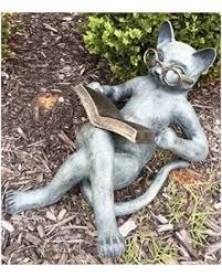 shopping sales on outdoor garden patio bookworm feline