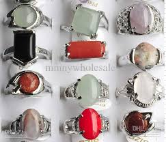 real stone rings images 2018 hot sale colorful natural stone ring handmade jewelry fashion jpg