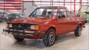volkswagen rabbit truck interior 1982 volkswagen rabbit pickup youtube