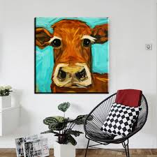 online get cheap cow canvas art aliexpress com alibaba group