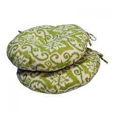 18 Inch Round Outdoor Chair Cushions Decorative Round Seat Cushions Tufted Design Modern Floral Print