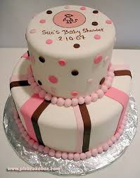pink and brown baby shower pink and brown baby shower cake custom baby shower cakes