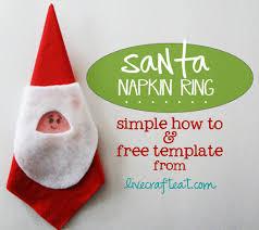 diy christmas napkin rings free santa template live craft eat
