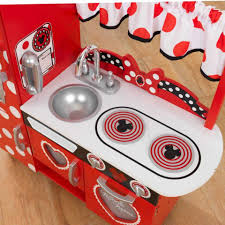 Play Kitchen Red Disney Jr Minnie Mouse Vintage Kitchen Set Kidkraft