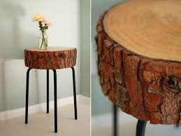 How To Make A Tree Stump End Table by 13 Creative Diy Table Designs For All Styles And Tastes
