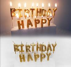 gold birthday candles 1 set gold silver happy birthday candle cake candles kids