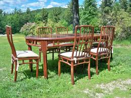 rosewood dining room furniture vintage rosewood dining table and six chairs from hong kong