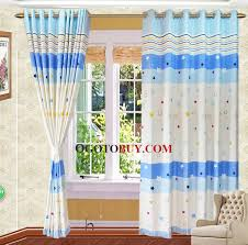 Blue And Yellow Curtains Prints Classic Blue And White Cotton Fiber Star And Stripe Pattern Kids