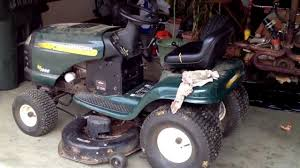craftsman riding mower deck belt change youtube