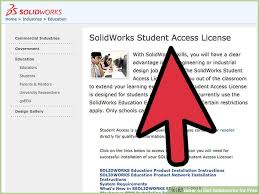 solidworks student design kit how to get solidworks for free 8 steps with pictures wikihow