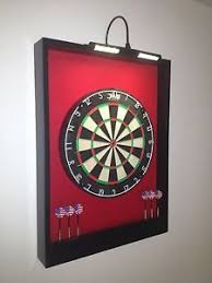 black dart board cabinet led lighted red black dart board cabinet dmi staple free sisal