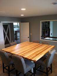 custom made 2 5 u201d edge grain hickory butcher block table top