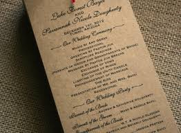 kraft paper wedding programs rustic wedding programs fresh rustic wedding program with