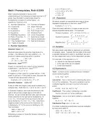 algebra formulas cheat sheet algebra a cheat sheet doc doc