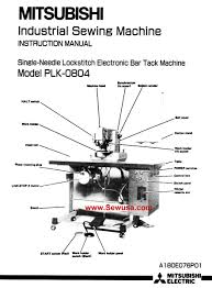 mitsubishi sewing machine manuals instruction and repair manuals