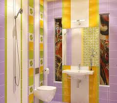 Striped Bathroom Walls Modern Bathroom Remodeling Ideas Diy Tiled Wall Design With Stripes