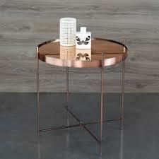 table basse bout de canapé table basse guéridon métal plateau miroir cupid zuiver salons