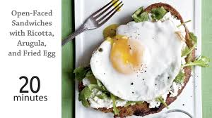 open for breakfast on thanksgiving open faced sandwiches u0026 ricotta arugula u0026 fried egg recipe
