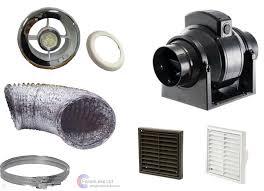 mf100t bathroom shower light fan extractor standard timer inline kit