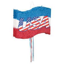 Flag Distributors Amazon Com Usa Flag Pinata Pull String Kitchen U0026 Dining