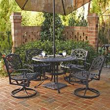 Cast Aluminum Patio Furniture Clearance by Shop Home Styles Biscayne 5 Piece Black Aluminum Patio Dining Set